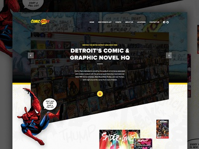 Comic Book Website detroit comics marvel dc website web design wordpress css3 html5 responsive michigan