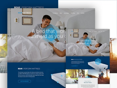 Mattress Homepage store mattress website web design css3 html5 responsive shopify e-commerce ecommerce