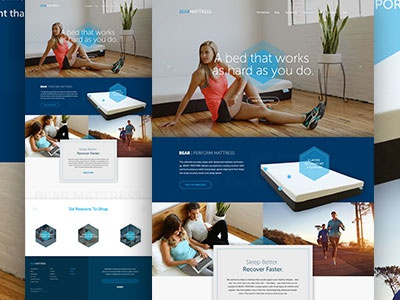 Bear Mattress Full web web design website css3 html5 sleep shopify ecommerce e-commerce mattress