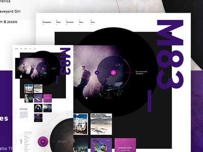 M83 Sneak Peak grid website wordpress shopify ecommerce html5 css3 web design music m83