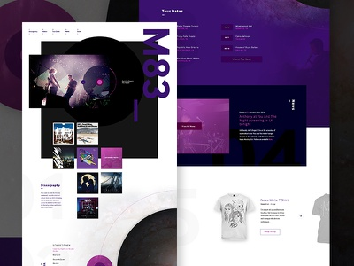 M83 Web Concept m83 grid shopify ecommerce music html5 css3 wordpress website web design