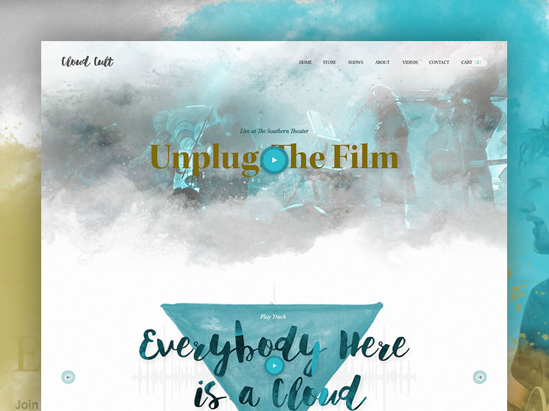 Cloud Cult Sneak Peak wordpress e-commerce html5 css3 ecommerce shopify responsive music cloud cult