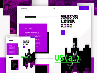 Saul Williams WIP glitch hacker saul williams grid ecommerce shopify music wordpress website html5 css3 web design