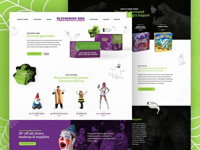 Mocktober 2017: Blethering Bog Shop mocktober shop design subscription halloween big commerce shopify ecommerce e-commerce