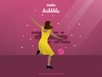 La La Shot - Hello Dribbble!