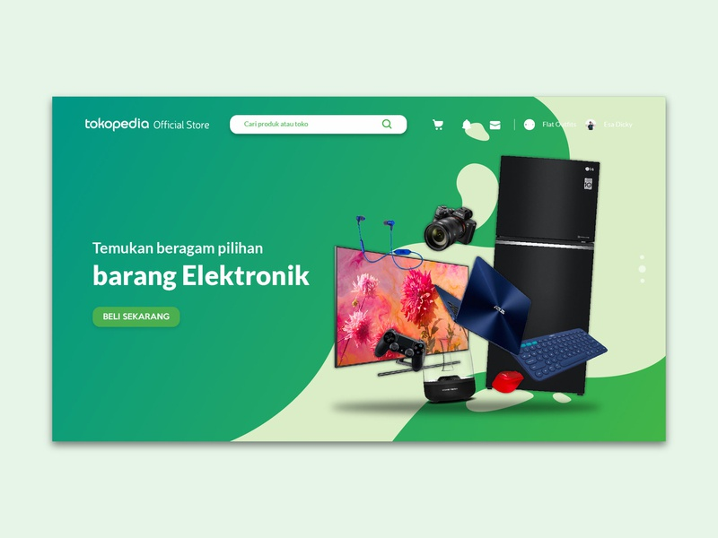 Tokopedia Official Store Microsite Exploration website branding ui design