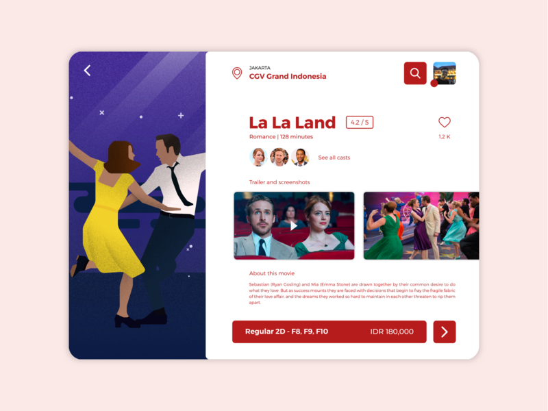 Movie Ticketing App - iPad movie app ipad mobile app character website app design design illustration ui  ux ui design ux design ux ui