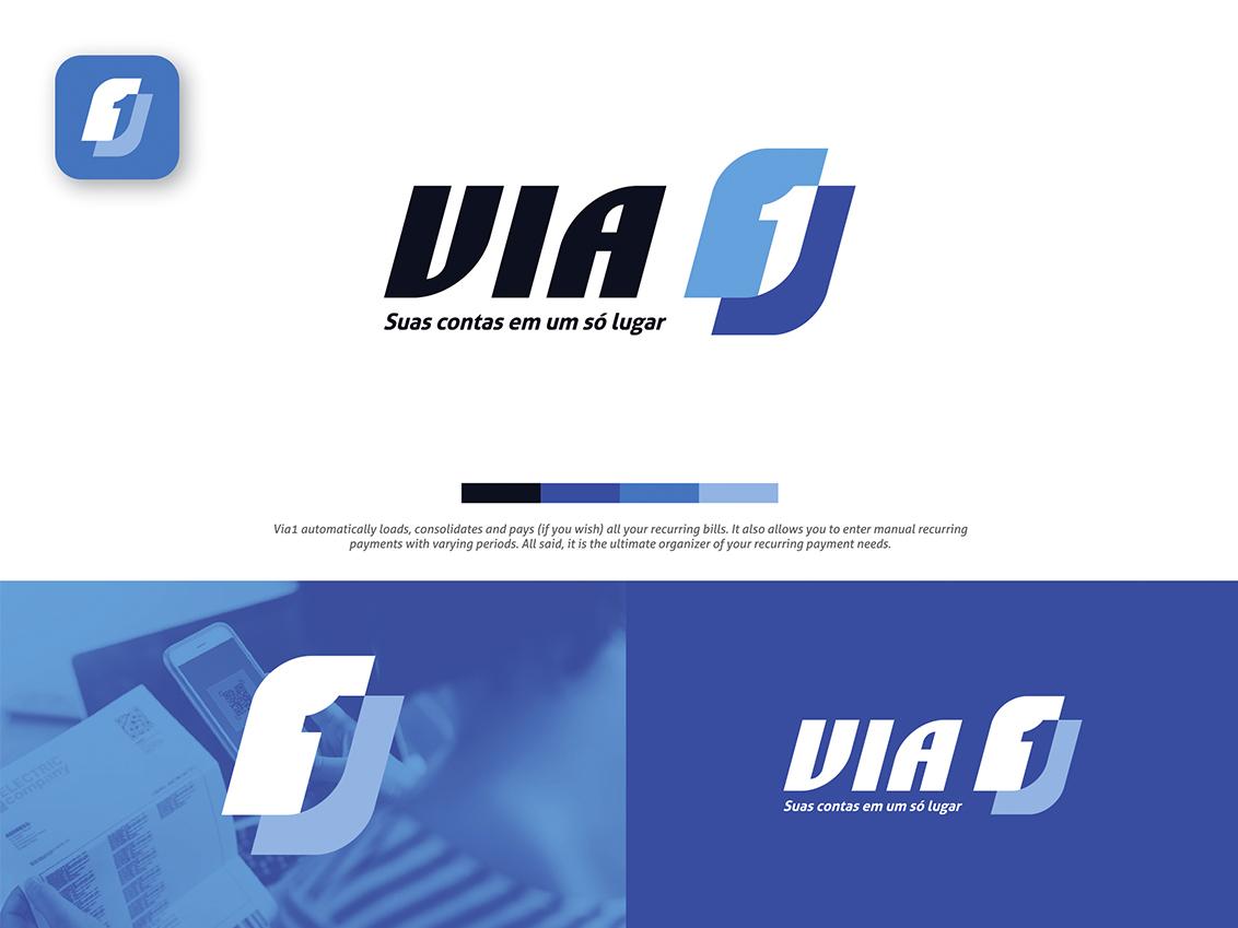 VIA 1 Logo Design artworks visual identity brand identity logo logo design logo branding branding design branding