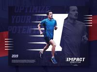 IMPACT SPORTS LAB Logo Design 3