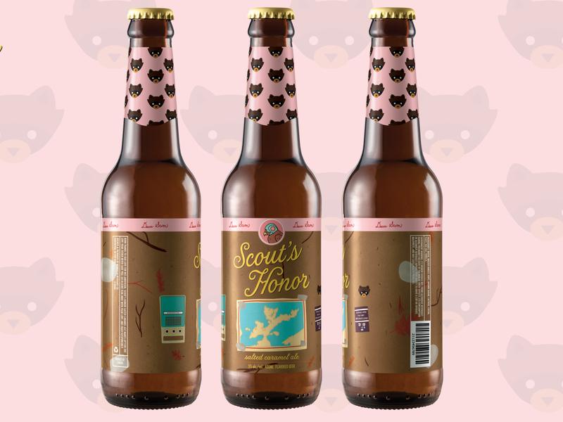 Beer Concept Design Inspired by Wes Anderson moonrise kingdom beer branding logo design illustration wes anderson