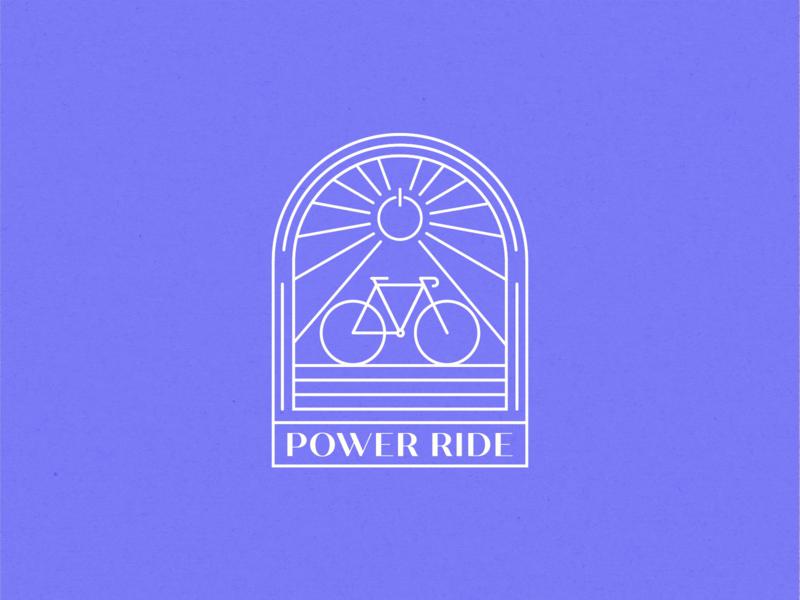 Power Ride E-bike Logo badge badge design badge logo linework yeg line art branding ebike vector edmonton illustration modern graphic design monoline logo monoline brand identity logo design concept logo design logo