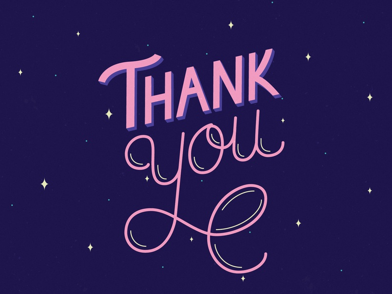 Thank You Postcard handletter handlettering hand drawn vector graphic design design typography calligraphy lettering artist lettering