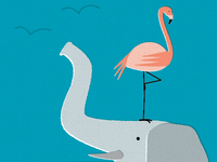 Flamingo & Friend