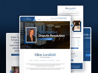 Website Design Mediator minimal design logo ui landing page web branding uidesign webdesign typography