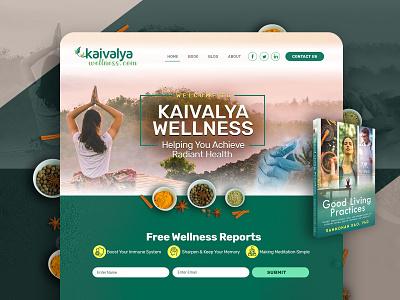 Wellness Wordpress Website flat typography yoga wellness wordpress home page design ui logo uidesign webdesign psd design illustrator photoshop