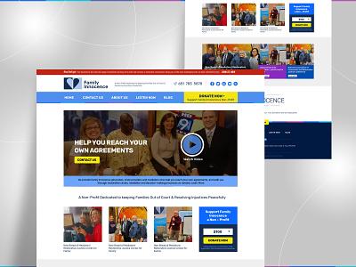 NGO Website web typography design ui landing page branding flat uidesign psd design webdesign