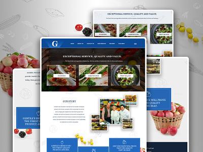 G Fine Food landing page uidesign webdesign home page design psd design
