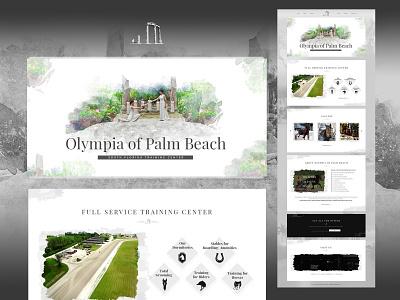 Website Design flat typography landing page web branding uidesign webdesign design
