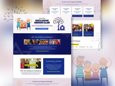Senior Care landing page flat branding uidesign typography design webdesign
