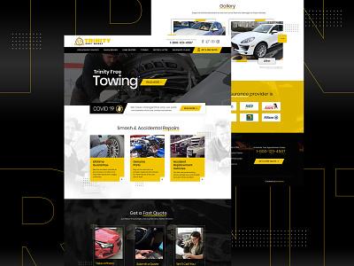 TBW landing page flat uidesign home page design logo branding typography psd web design