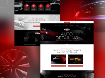 Auto Detailing web landing page branding psd design typography home page design webdesign