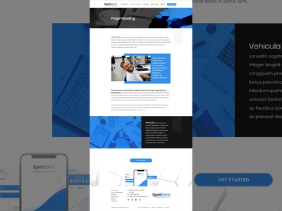 Internal Page Design