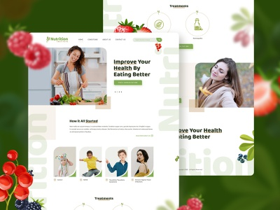 Nutrition Home page ui home page adobe illustrator adobe photoshop web design