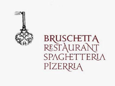 Bruschetta visual identity logo logotype serif restaurant