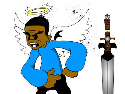 Angel character design illustration mascot illustrator vector art graphics cartoon anime animation