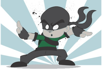 Ninja D Animation character design illustration mascot illustrator vector art graphics cartoon anime animation