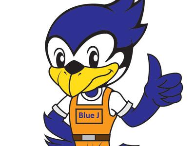 Blue J Mascot