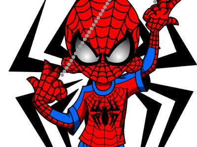 Ninja D Spidey Cosplay design art vector illustration ninjad ninja marvel comics fan spidey cosplay spiderman