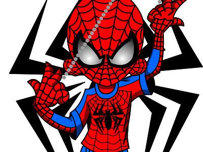 Ninja D Spidey Cosplay design art vector illustration ninjad ninja marvel comics fan spidey cosplay spiderman