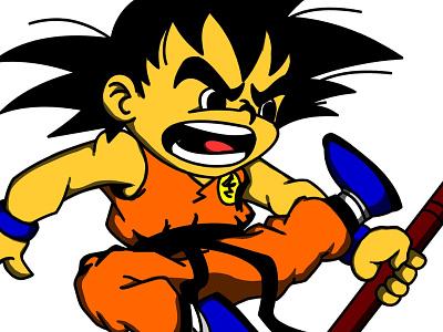 Lil Goku happiness buddah love peace adobe digital illustration art vector illustrator illustration design logo