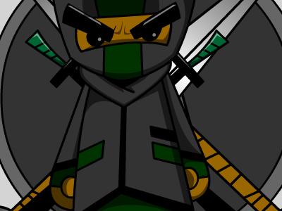 The Ninja D illustrator digital art animation cartoon vector art ninja character design iamninjad ninja d