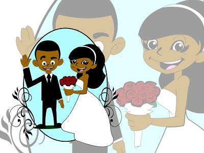 Wedding invite vector save the date happy love couple invitation invite wedding