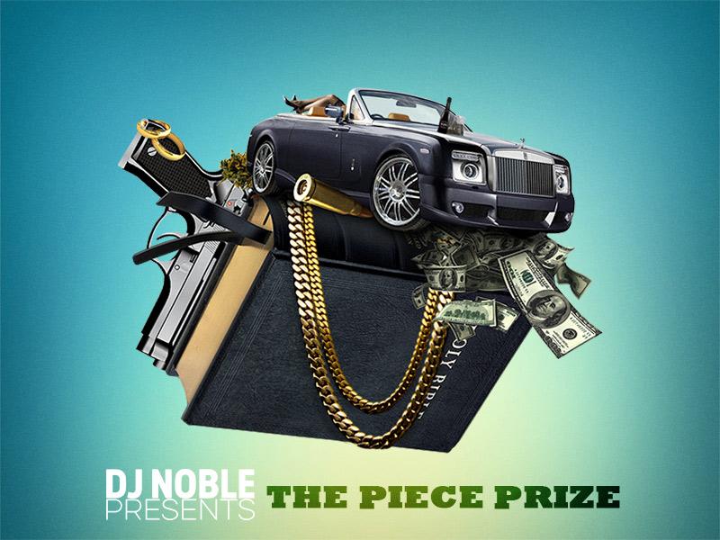 DJNoble The Piece Prize Mixtape Cover  mixtape cover rap hip hop music underground rapzilla graphic design