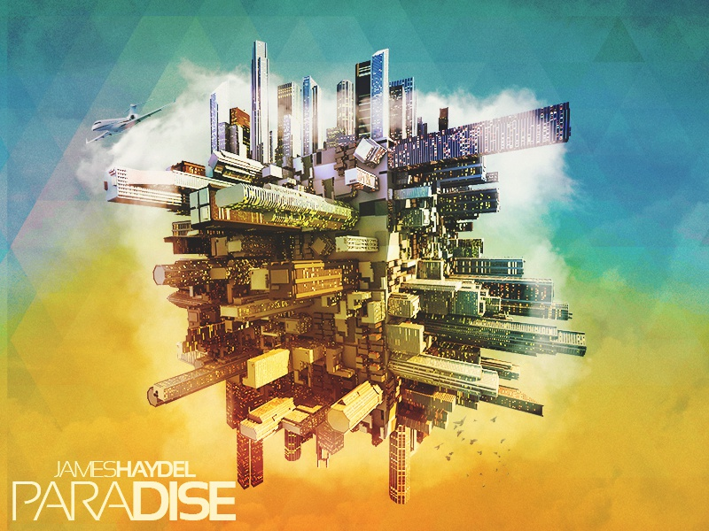 James Haydel - Paradise - EP Cover james haydel paradise ep cover music rapzilla hiphop rap 3d maxon cinema 4d