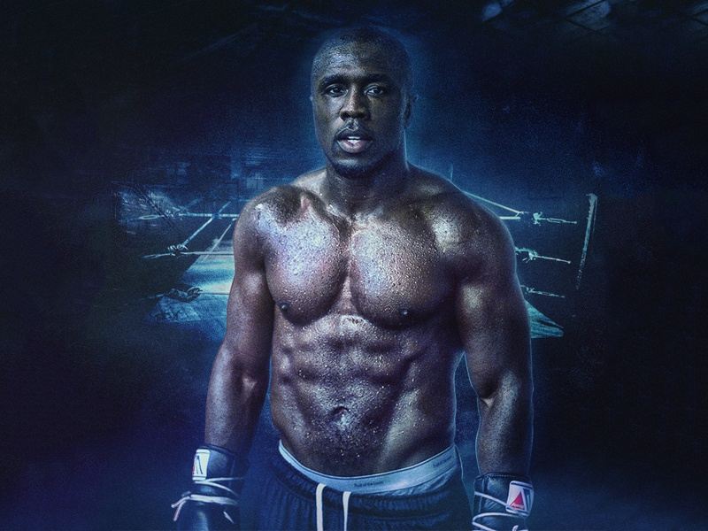 Andre Berto Poster Design retouch photoshop manipulation photo sports boxing design poster berto andre