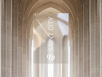 Saint City brand identity brand design blackletter graphic church vector branding logo design typography graphic design type