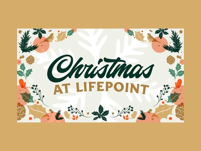Christmas at Lifepoint 2020 vintage typography sermon series christmas church design illustration graphic design
