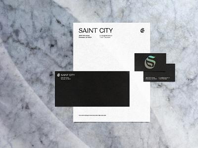Saint City Branding Draft brand design saint icon branding layout design church type typography graphic design
