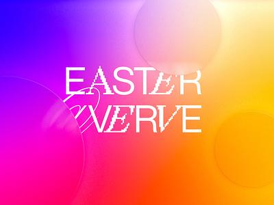 Easter at Verve blur gradient typography design church sermon art easter graphic design