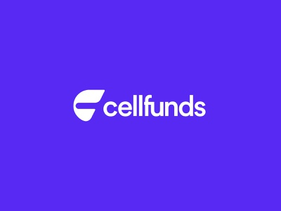 Cellfunds money startup design minimal mobile banking graphic design branding logo