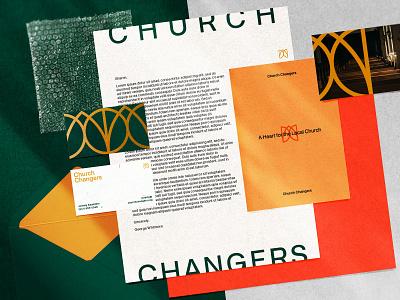 Church Changers   Concept 01 print design stationery brand identity logo church typography design graphic design branding