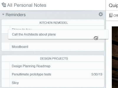 Evernote reminders web