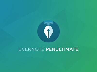 Penultimate logo ios ipad polygons ios7 flat logo evernote