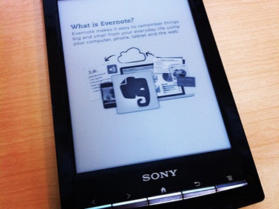 Evernote Clearly for Sony Reader sony evernote black and white clearly