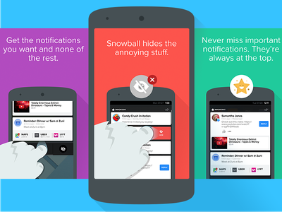 Snowball Promos hand cards notifications star yeti snowball android google play store