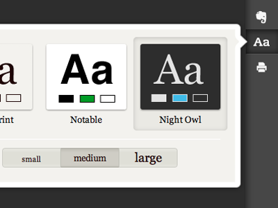 Evernote Clearly Screengrab evernote clearly ui icons menu pressed themes